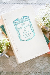 vintage tea party, antique book, lace, wildflowers