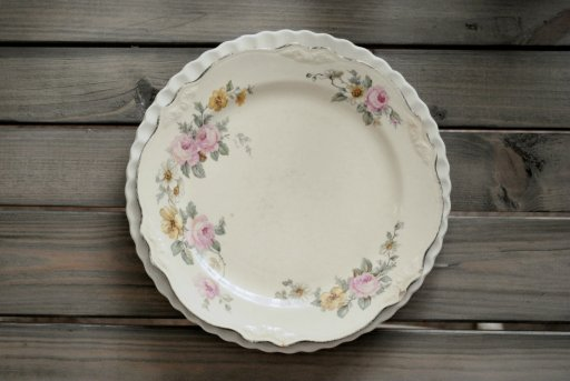 vintage china, farm table