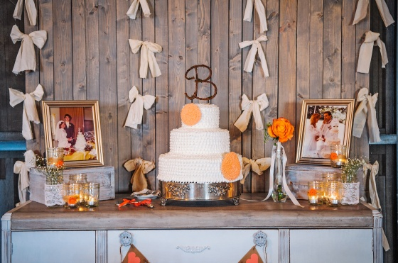 Rustic Wedding Cake Table, Antique Buffet, Coral, Weathered Wood Room Dividers, Crates