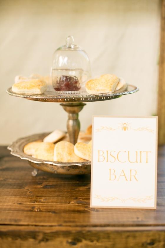 vintage, rustic, southern wedding, biscuit bar