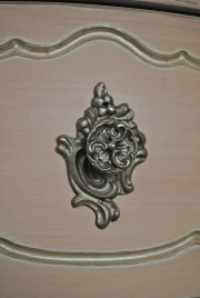 pink dresser, antiqued, French Provincial