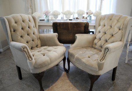 tufted velvet chairs, antique, vintage wedding, southern