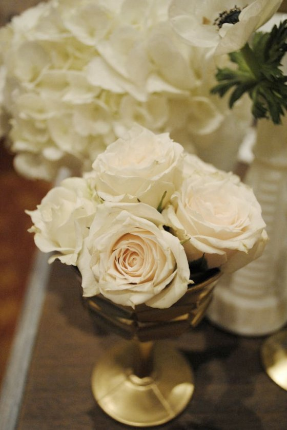 pink roses, milk glass, hydrangea, vintage tablescape, white