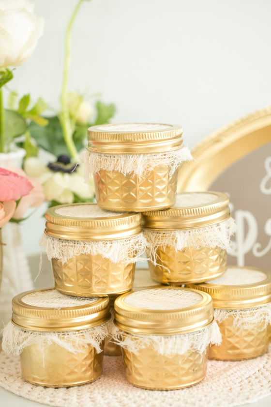 vintage wedding, gold mason jars, southern