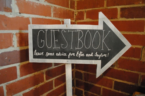 chalkboard, arrow, rustic wedding, guestbook